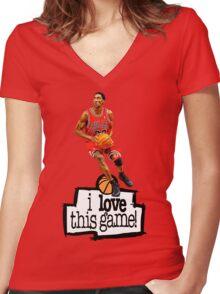 Scottie Pippen Women's Fitted V-Neck T-Shirt