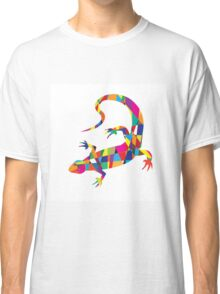 Bright colorful picture with the mosaic lizard isolated  Classic T-Shirt