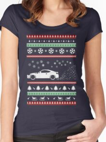 BRZ FRS Ugly Christmas Sweatshirt Women's Fitted Scoop T-Shirt