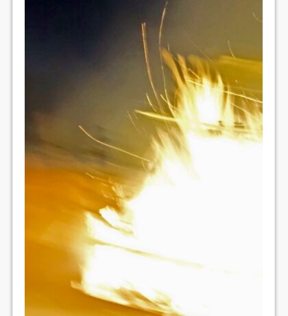 Flame explosion Sticker