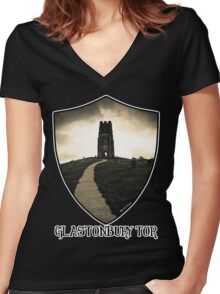 Dark Tor - Gothic Glastonbury Women's Fitted V-Neck T-Shirt