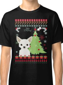Chihuahua Christmas Ugly Sweater Classic T-Shirt