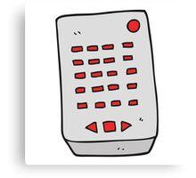 cartoon remote control Canvas Print