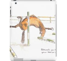 Polework can help improve your horse's flexibility iPad Case/Skin
