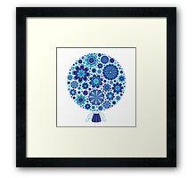 Elaborate Blue Flowers Background Framed Print