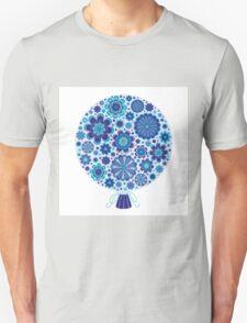 Elaborate Blue Flowers Background Unisex T-Shirt