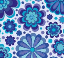Elaborate Blue Flowers Background Sticker