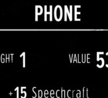 The Elder Scrolls V - Skyrim Phone Case of Speechcraft #2 Sticker