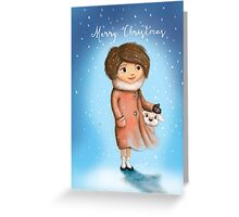 Girl Greeting Card