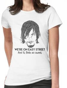 TWD - Daryl: We're On Easy Street Womens Fitted T-Shirt