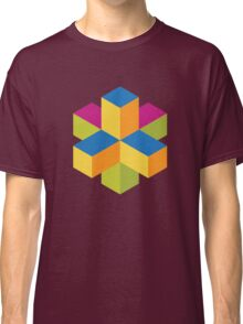 Isometric abstract color cubes Classic T-Shirt