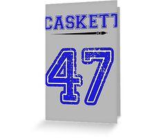 Caskett 47 Jersey Greeting Card