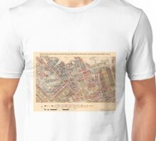 Booth's Map of London Poverty for Bryanston & Dorset Sq ward, Westminster Unisex T-Shirt
