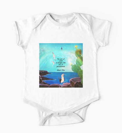 The Art Of Love Inspirational Quote With Nature Painting  One Piece - Short Sleeve
