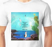 The Art Of Love Inspirational Quote With Nature Painting  Unisex T-Shirt