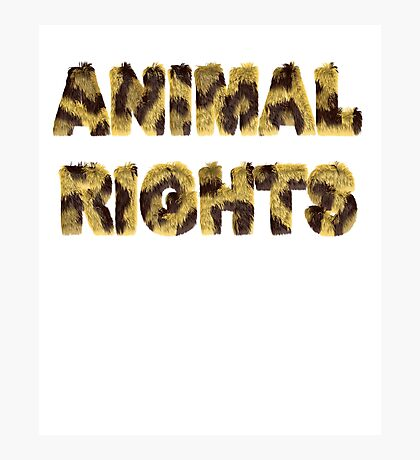 Animal Rights Stop Cruelty Abuse Tee for Women Men Kids Photographic Print