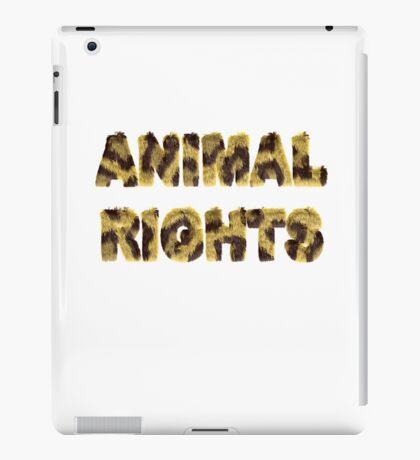 Animal Rights Stop Cruelty Abuse Tee for Women Men Kids iPad Case/Skin