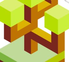 Isometric abstract color tree Sticker