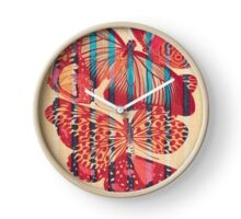 Butterflies in Strips Clock