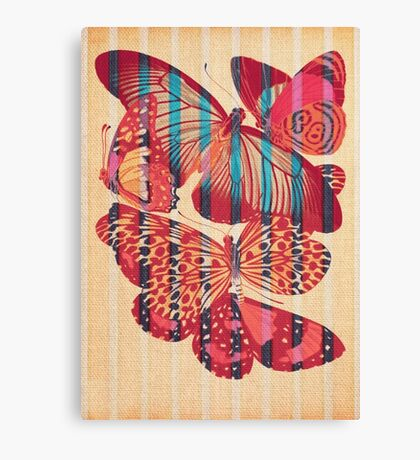 Butterflies in Strips Canvas Print