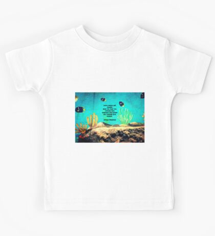 LOVE Is The Answer Inspiring Quote With Ocean Fish Painting  Kids Tee
