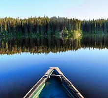 Canoeing on Lonely Lake by Skye Ryan-Evans