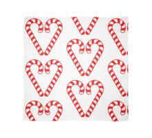 Christmas 2016 - Candycane Heart Design - Red and White Scarf