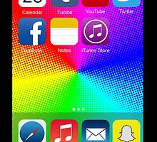 The All New iPhone - with colored background by kabirsharma17