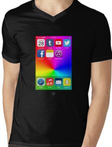 The All New iPhone - with colored background Mens V-Neck T-Shirt