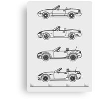MX-5 Miata Evolution Canvas Print