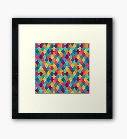 Colored Diamonds Framed Print