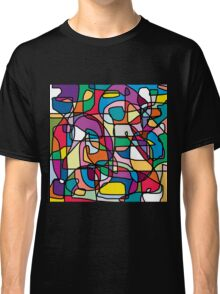 Abstract Colours Doodle Classic T-Shirt