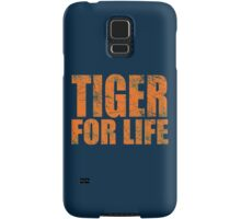 Tiger for Life -Navy and Orange Samsung Galaxy Case/Skin