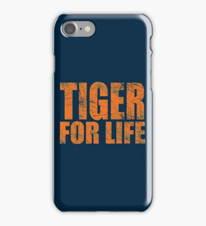 Tiger for Life -Navy and Orange iPhone Case/Skin
