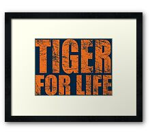Tiger for Life -Navy and Orange Framed Print