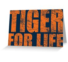 Tiger for Life -Navy and Orange Greeting Card