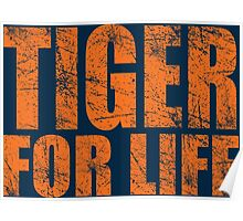 Tiger for Life -Navy and Orange Poster