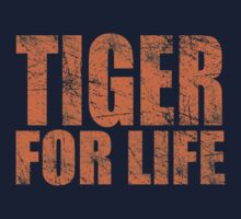Tiger for Life -Navy and Orange by JayJaxon