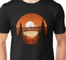 Retro Nature Graphic Illustration : Train Mountain with Oldschool Landscape Unisex T-Shirt