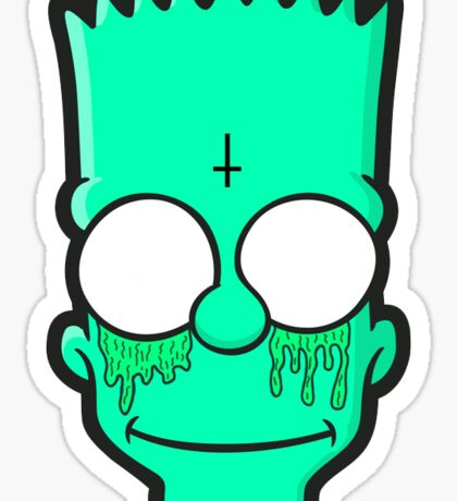 Bart Simpson Grime Head Sticker