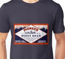 Vintage Pioneer Root Beer Soda Advertisement Unisex T-Shirt