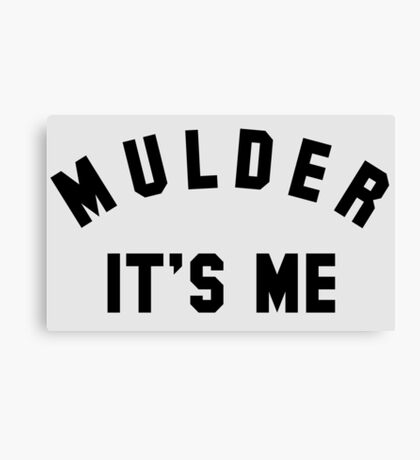 My Name Is Mulder Canvas Print