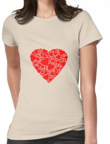 Red heart | Love Womens Fitted T-Shirt