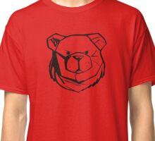 Robust Bear Logo Black Classic T-Shirt