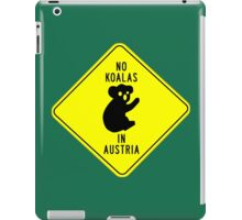 NO KOALAS IN AUSTRIA iPad Case/Skin