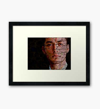 Jude law on my wall Framed Print