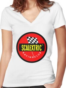 Scalextric 1968 Vintage Women's Fitted V-Neck T-Shirt