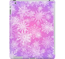 Chaotic Snowflakes on Lilac Background iPad Case/Skin