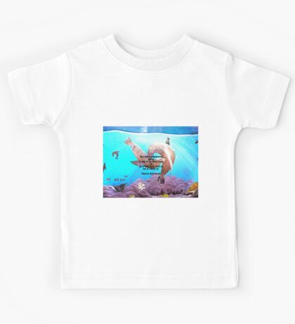 Motivational Giving Out Love Quote With Sea Lions Painting  Kids Tee