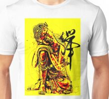 Buddha Colourful Abstract Yellow Unisex T-Shirt